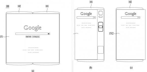 LG запатентовала смартфон со сгибающимся дисплеем