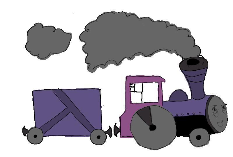 Поезд состоящий из одного вагона (в представлении художника)