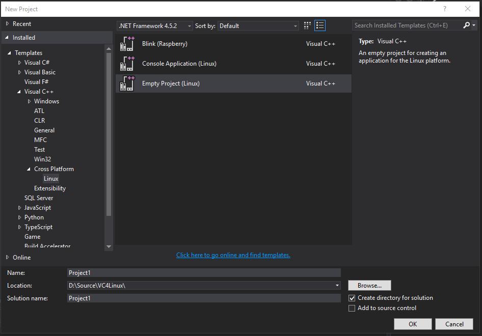 Расширение Visual C++ for Linux Development - 2