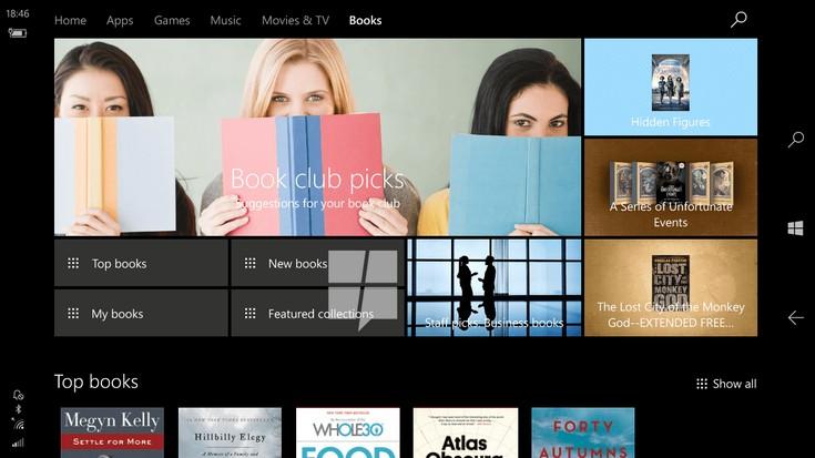 В Windows 10 появится свой книжный магазин