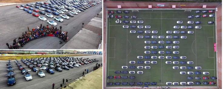 Электромобили Tesla установили новый рекорд Гиннеса в Китае