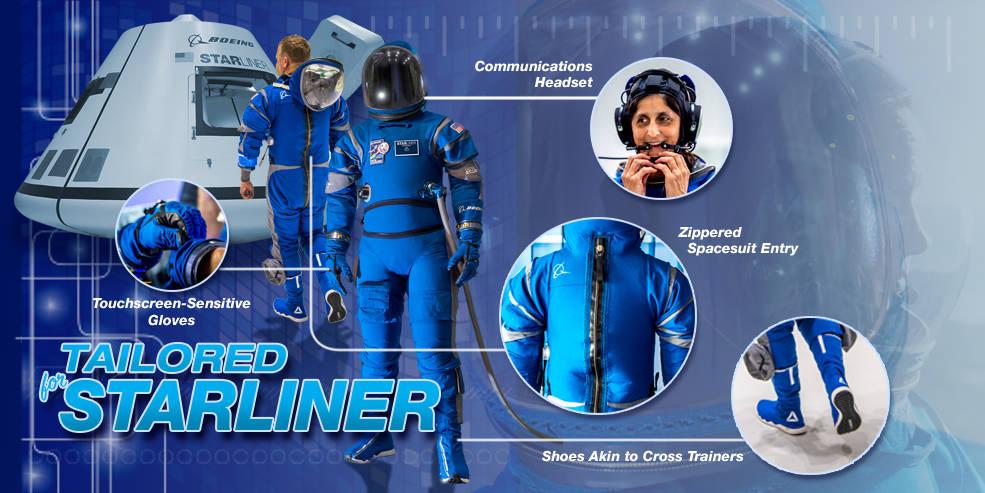 Boeing представил скафандр для команды космического корабля Starliner - 1