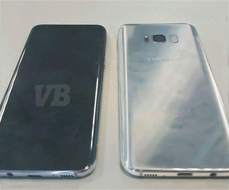 Samsung Galaxy S8 позирует перед камерой