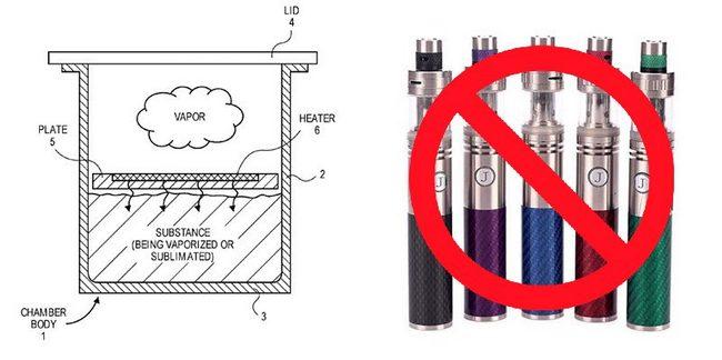 Apple запатентовала электронный парогенератор, который не имеет отношения к курению