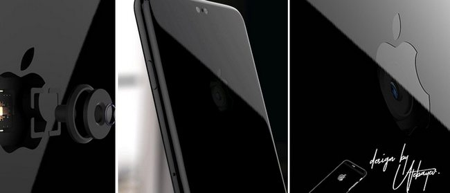 Художник создал концепт смартфона iPhone 8, камера которого расположилась в «яблоке» на задней панели
