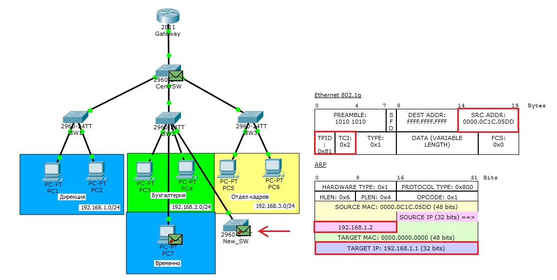 Основы компьютерных сетей. Тема №6. Понятие VLAN, Trunk и протоколы VTP и DTP - 85
