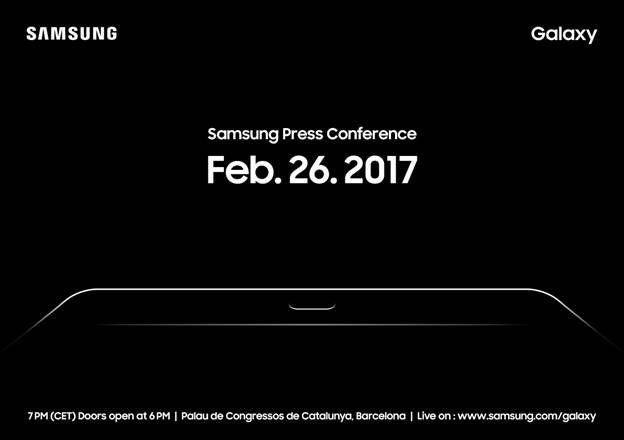Планшет Samsung Galaxy Tab S3 представят на MWC 2017, производитель рассылает приглашения на мероприятие