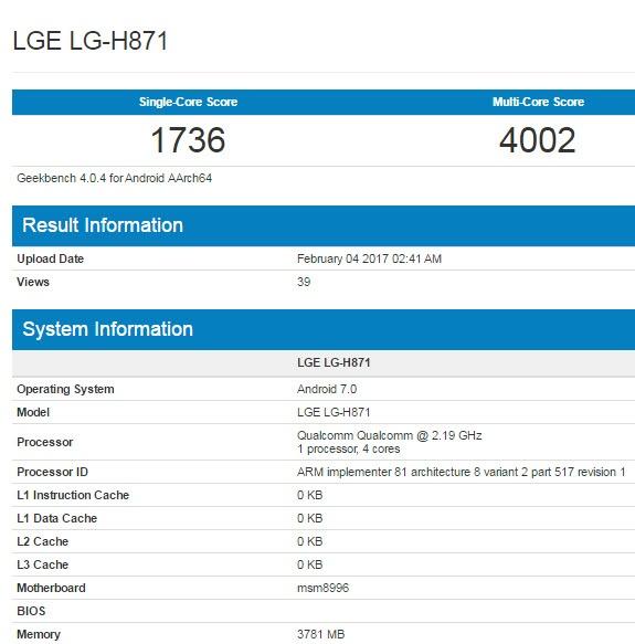 Младшая версия смартфона LG G6 может получить SoC Snapdragon 820 и 4 ГБ ОЗУ
