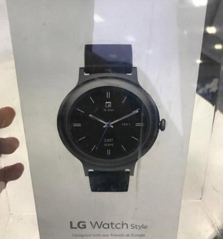 Опубликованы фотографии упаковки умных часов LG Watch Style