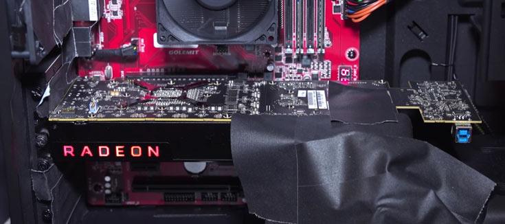 Инженерный образец карты на новом GPU AMD