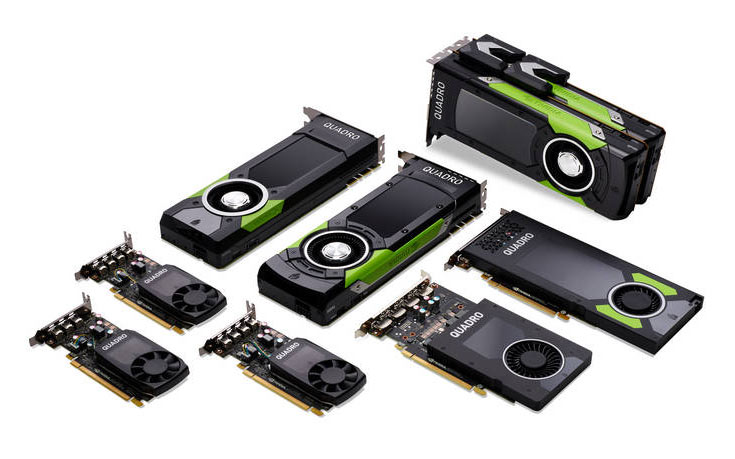 Quadro GP100, P4000, P2000, P1000, P600 и P400