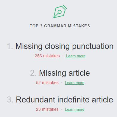 Обзор сервиса Grammarly для улучшения письменной речи на английском языке - 8