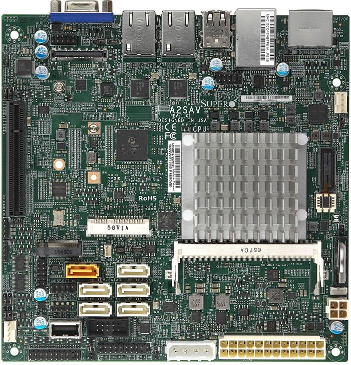 Плата Supermicro A2SAV базируется на новом ЦП Atom x5-E3940