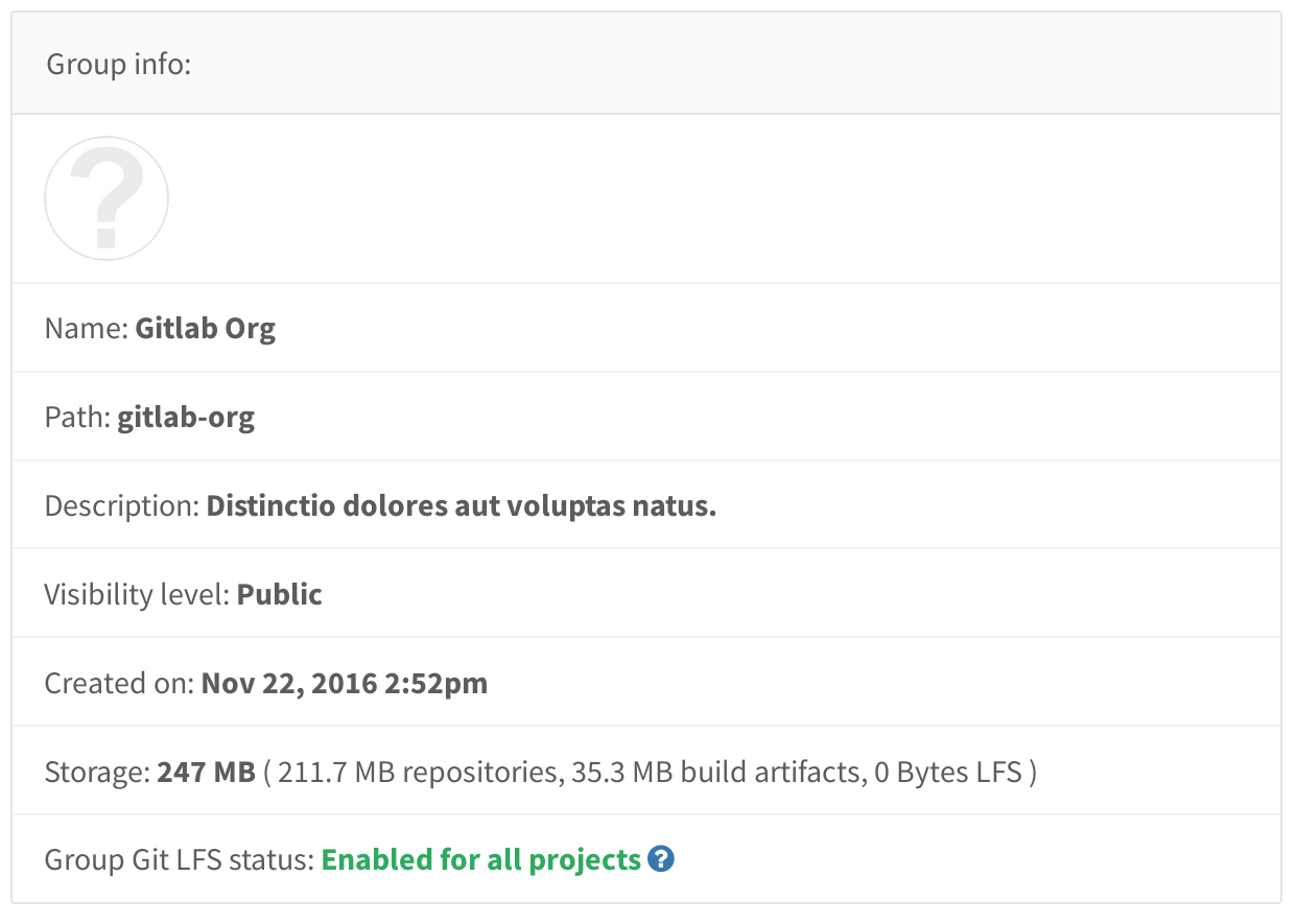 See how storage is being used in GitLab 8.16