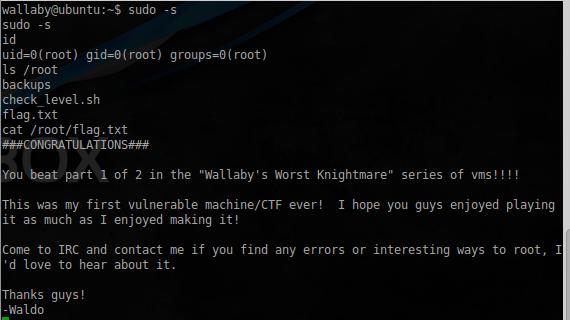 VulnHub: Выкидываем неугодных из IRC в Wallaby's Nightmare - 15