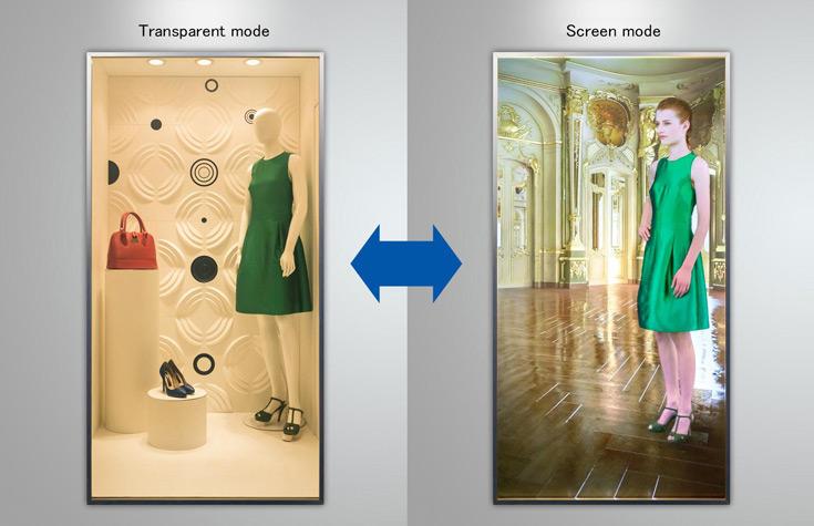 Высококонтрастные прозрачные экраны можно использовать в зеркалах