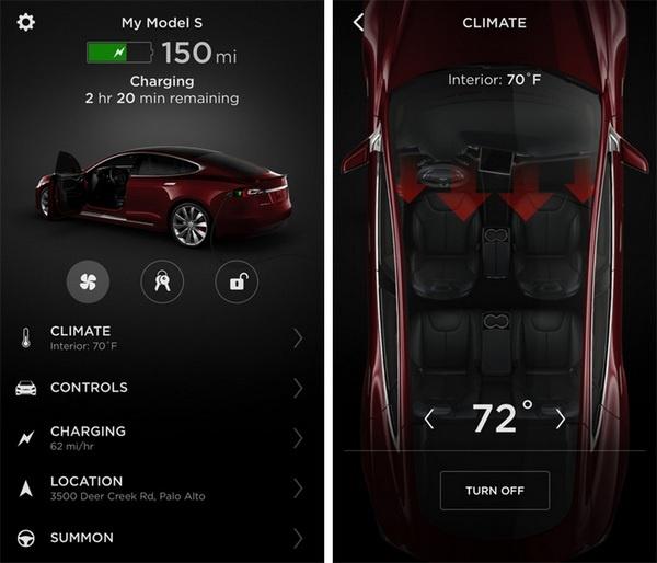 Приложение Tesla для iOS получило поддержку Touch ID