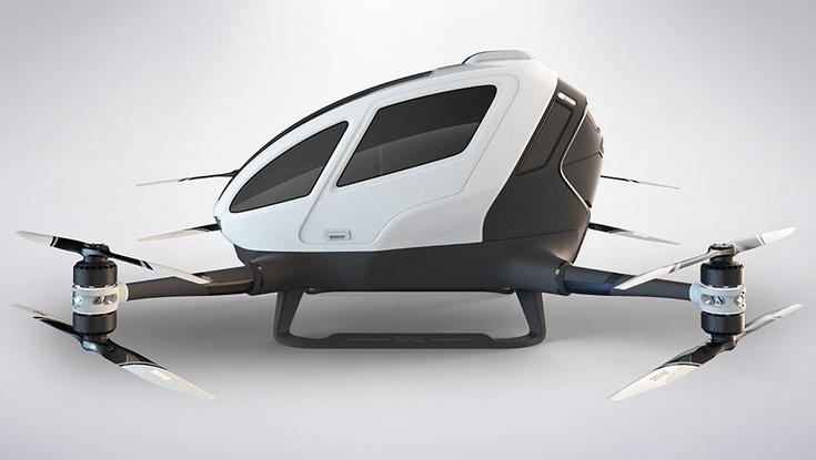 Летом в Дубае начнут курсировать пассажирские дроны Ehang