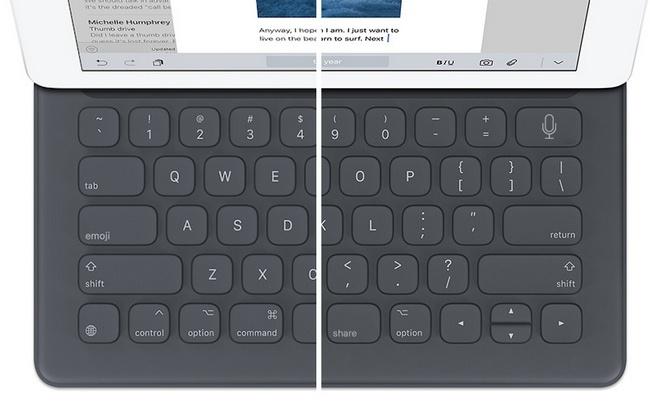 Новая клавиатура Apple Smart Keyboard может иметь кнопки Share, Emoji и  Siri