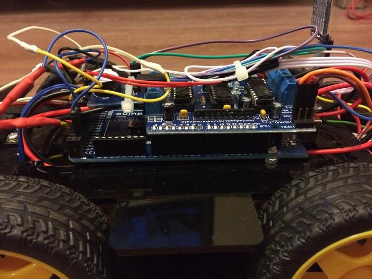 Робомобиль на базе Arduino Mega 2560 с Bluetooth управлением и автономным движением с объездом препятствий - 10