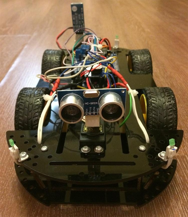 Робомобиль на базе Arduino Mega 2560 с Bluetooth управлением и автономным движением с объездом препятствий - 2