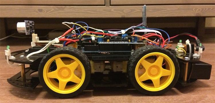 Робомобиль на базе Arduino Mega 2560 с Bluetooth управлением и автономным движением с объездом препятствий - 5