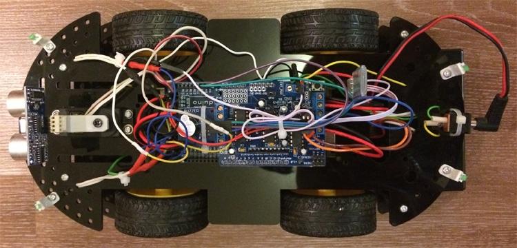 Робомобиль на базе Arduino Mega 2560 с Bluetooth управлением и автономным движением с объездом препятствий - 6
