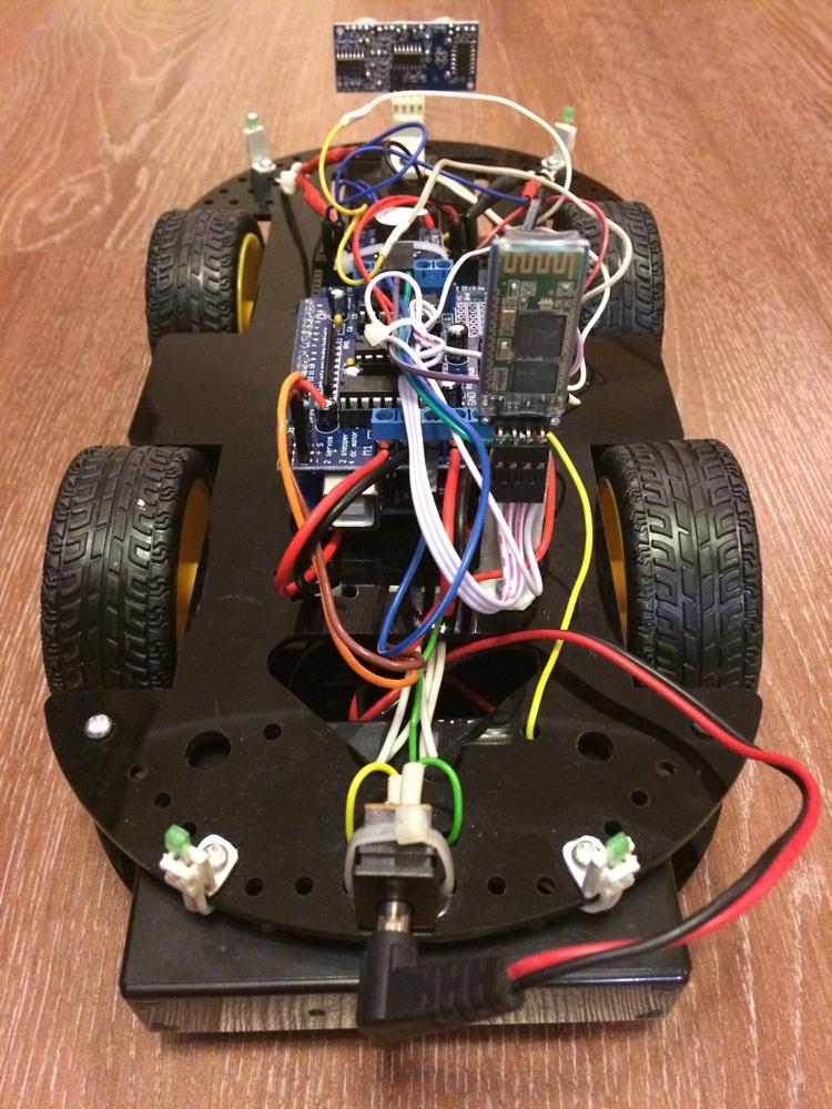Робомобиль на базе Arduino Mega 2560 с Bluetooth управлением и автономным движением с объездом препятствий - 7