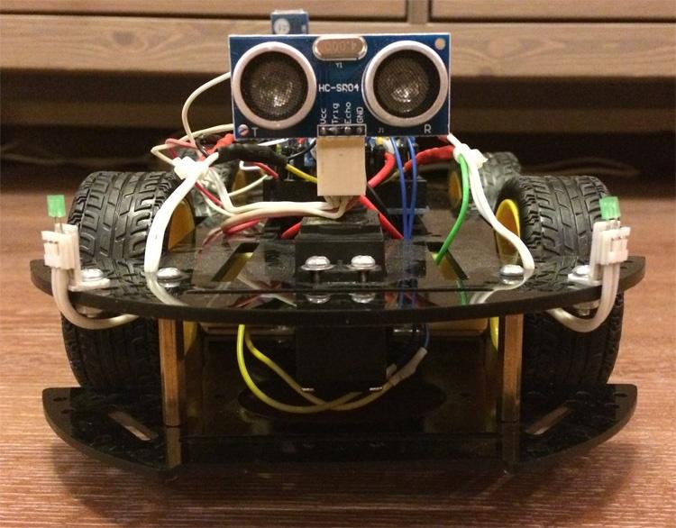 Робомобиль на базе Arduino Mega 2560 с Bluetooth управлением и автономным движением с объездом препятствий - 8