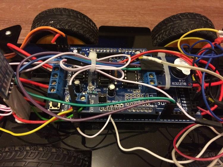 Робомобиль на базе Arduino Mega 2560 с Bluetooth управлением и автономным движением с объездом препятствий - 9