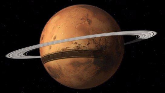 Марс может обзавестись кольцами, что помешает его колонизировать
