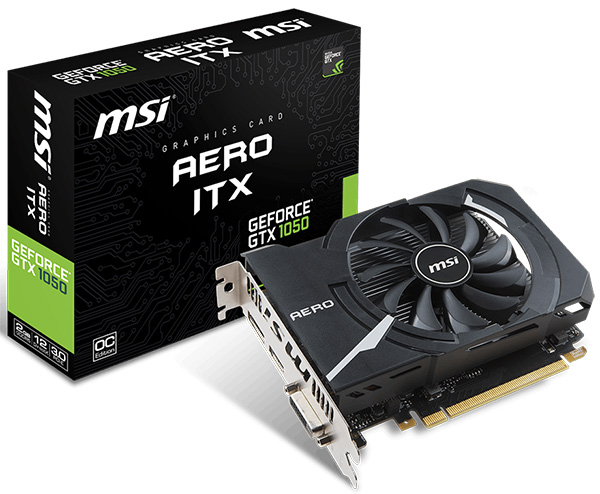 MSI GeForce GTX 1050 2 GB Aero ITX OC