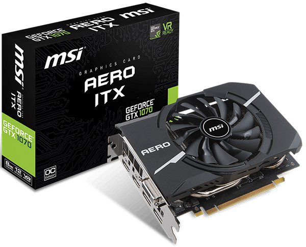 MSI GeForce GTX 1070 8 GB Aero ITX OC