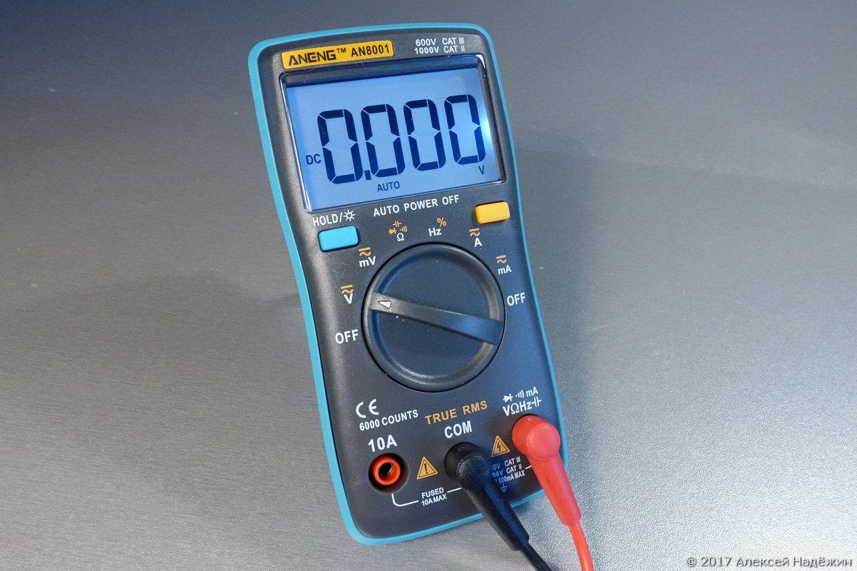 Могучий малыш — TrueRMS мультиметр Aneng AN8001 - 8