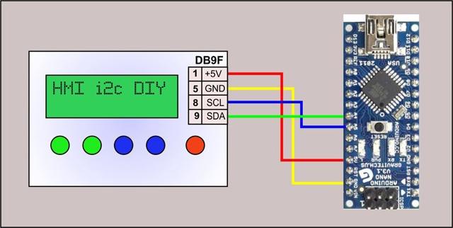 Панель оператора (HMI) с шиной I2C для Arduino - 12
