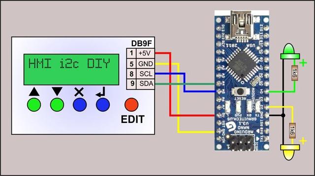 Панель оператора (HMI) с шиной I2C для Arduino - 15