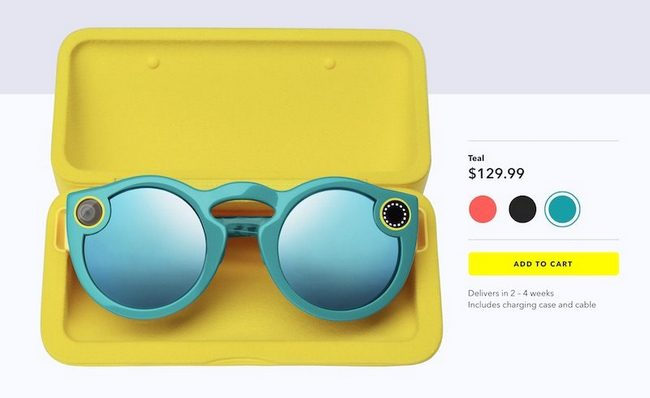 Очки Spectacles стали доступны для приобретения в онлайновом магазине