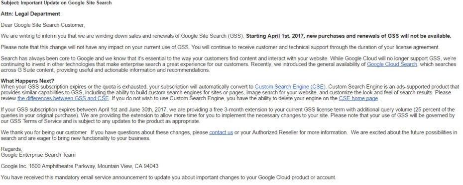 Google закрывает платный поиск для сайтов - 2