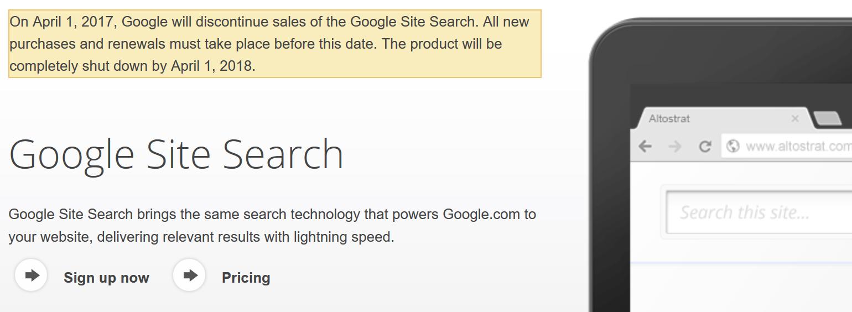 Google закрывает платный поиск для сайтов - 1