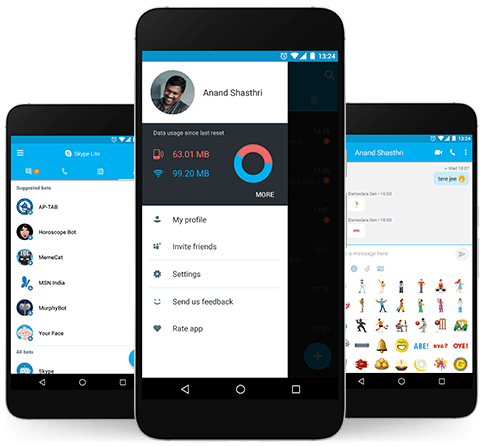 ПО Skype Lite стало меньше и научилось пережимать мультимедийный контент