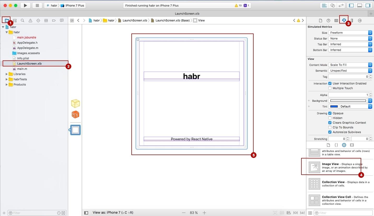 Как добавить AppIcon и LaunchScreen в приложение на React Native - 8