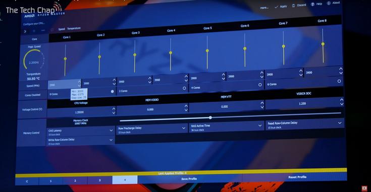 Программа для разгона новых процессоров AMD называется Ryzen Master - 1