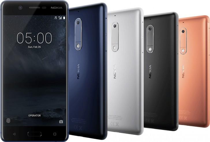 Nokia 3 и Nokia 5 можно будет купить во втором кваратле