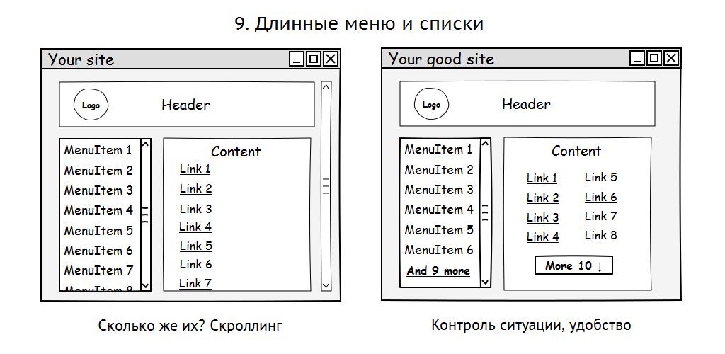 10 грехов в системах навигации сайтов - приложений - 9