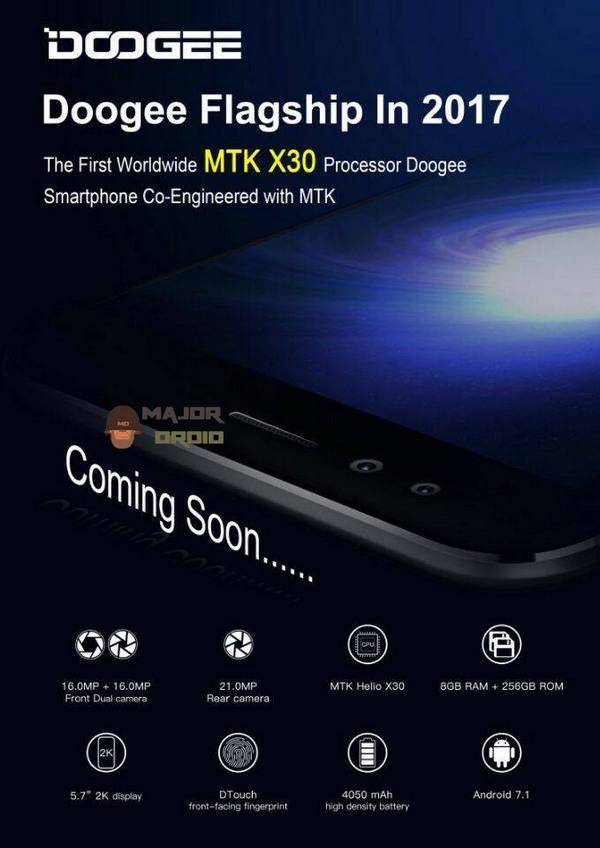 Doogee обещает выпустить первый смартфон с SoC Helio X30