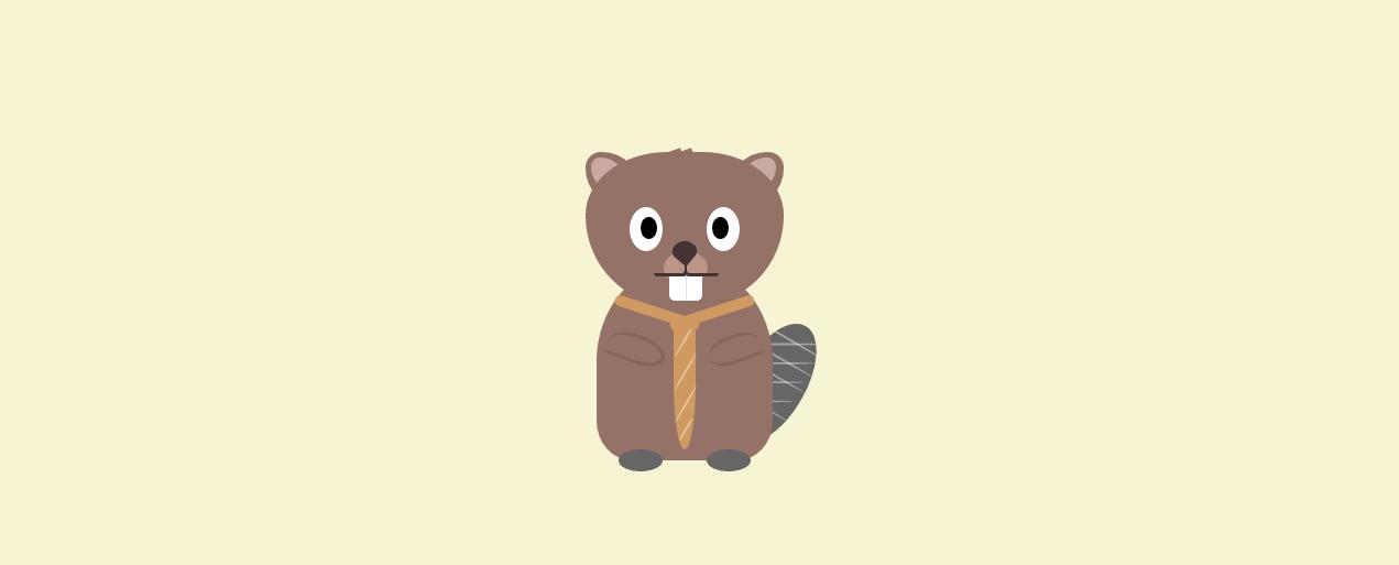 Beaver with tie