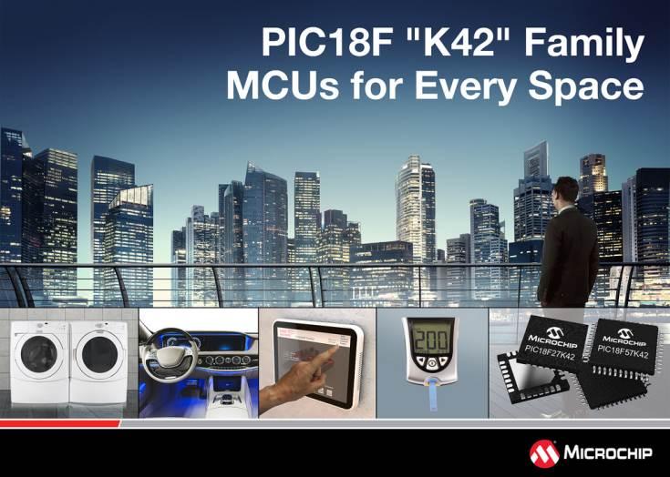Первые десять моделей семейства PIC18F K42 уже выпускаются серийно