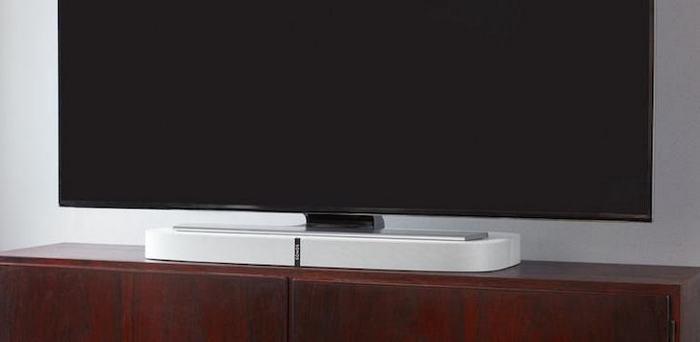 Представлена акустическая система Sonos Playbase, которая также служит подставкой для телевизоров