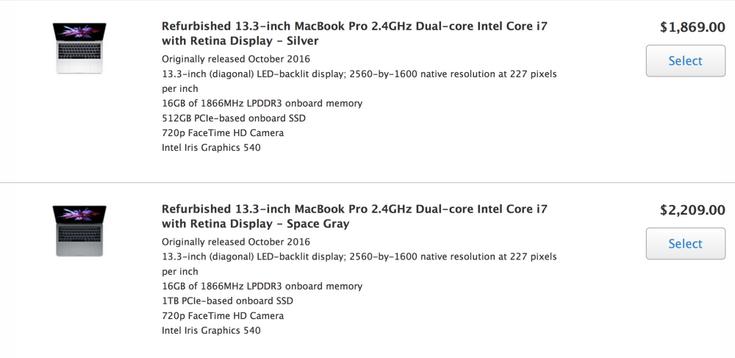 В магазине Apple появились первые восстановленные ноутбуки MacBook Pro нового поколения