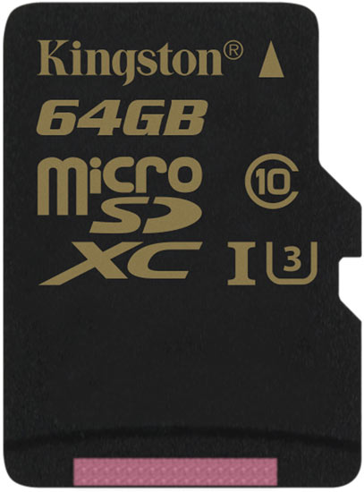 Карточки памяти Kingston Gold гарантированно сохраняют работоспособность в диапазоне температур от -25 °C до 85 °C